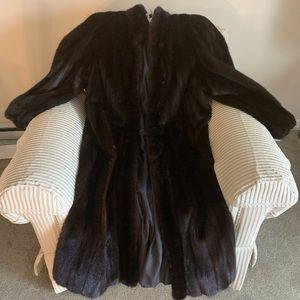 Luxury Black Diamond Mink Fur Coat